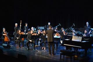 Daniel conducting the orchestra