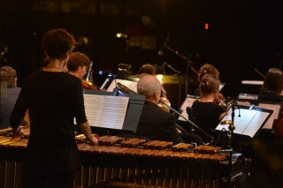 The xylophone being played