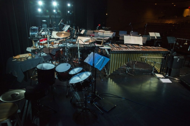 The instruments onstage with no musicians and no audience